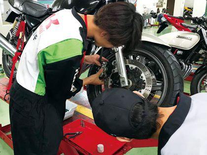 【来校型】二輪自動車整備科 のイメージ